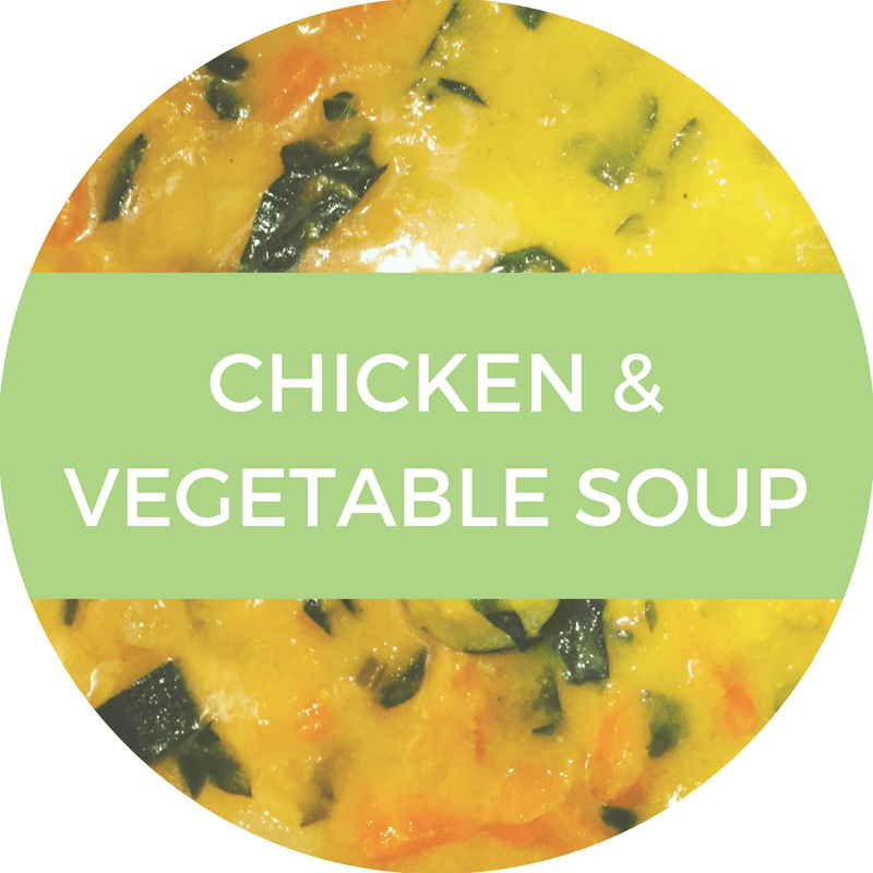 Chicken & vegetable soup recipe