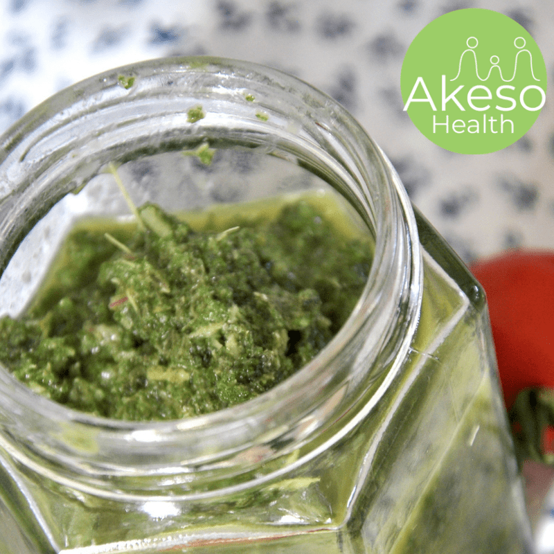 Vegan Kale and Basil Pesto adds flavour and nutrients to your meals.